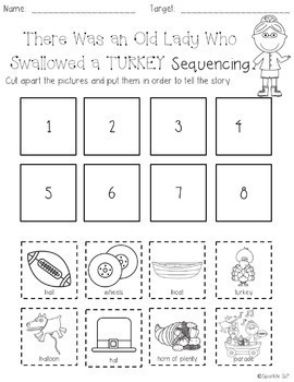 Speech Language and Literacy:  There Was an Old Lady Who Swallowed a Turkey