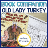 There Was an Old Lady Who Swallowed a Turkey Speech Therapy Book Companion