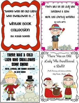 There Was an Old Lady Who Swallowed a...Winter Book Collection