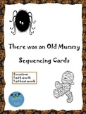 There Was an Old Mummy Sequencing Cards spiders