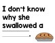There Was an Old Woman Who Swallowed a Pie Mentor Sentence
