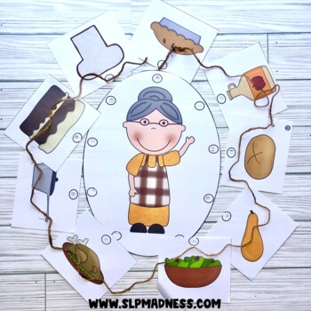 Companion for Old Lady Who Swallowed a Pie Thanksgiving Activity Pack