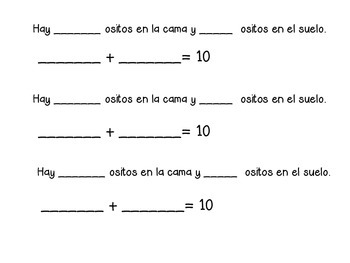 There Were Ten in The Bed... (Composing 10) (English/Spanish)