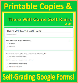 There Will Come Soft Rains Test 6th Grade HMH Collections HRW - Int. Notebook