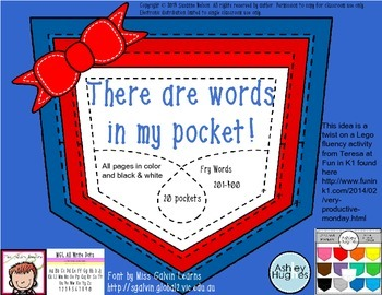 There are Words in My Pocket set 2