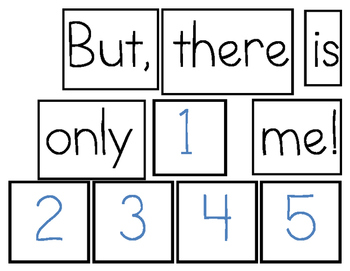 There is Only One Me - Pocket chart activity