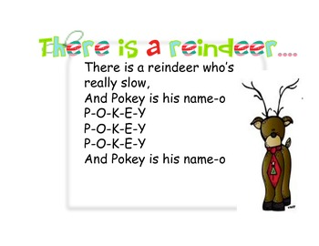 There is a reindeer...