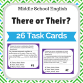 There or Their ? Task cards Middle School English and Reading