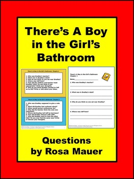 There's A Boy in the Girl's Bathroom Comprehension Unit