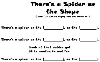 There's A Spider on the Shape