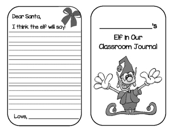 There's An Elf In Our Classroom Journal