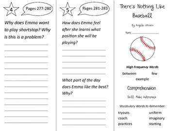 There's Nothing Like Baseball Trifold - Treasures 2nd Grade Unit 2 Week 5 (2009)