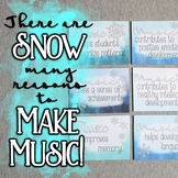 There Are SNOW Many Reasons to Make Music! Bulletin Board Set