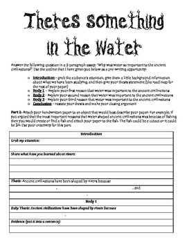 There's Something In The Water Guided Essay