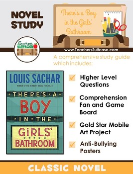 There's a Boy in the Girls' Bathroom {Novel Study, Art Project, & More}