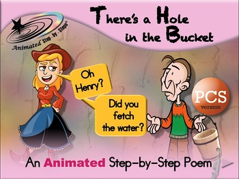 There's a Hole in the Bucket - Animated Step-by-Step Song - PCS