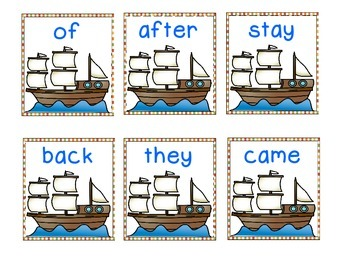 There's a Mouse on the Mayflower! A Thanksgiving Sight Word Game
