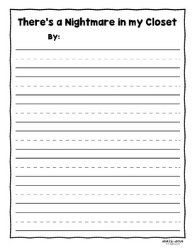 There's a Nightmare in my Closet - Literature Extension Activity