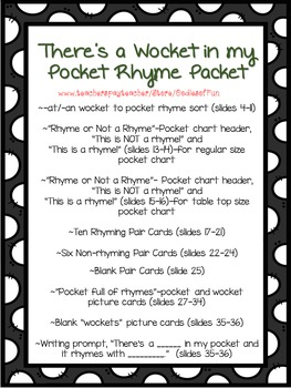 There's a Wocket in my Pocket! (rhyme packet)