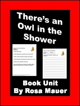 There's an Owl in the Shower Book Unit