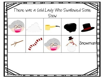 There was a Cold Lady Who Swallowed Some Snow Activities for Pre-K and K
