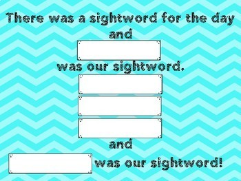 There was a Sight Word song