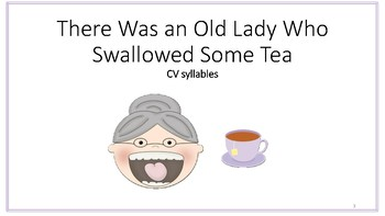 There was an Old Lady Artic Series- CV syllables