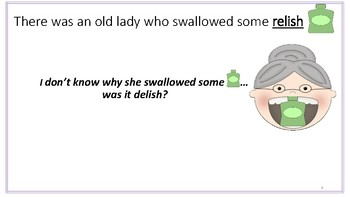 There was an Old Lady Artic Series- final /sh/