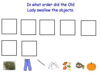 There was an Old Lady Who Swallowed Some Leaves Smartboard activity