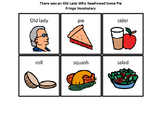 Old Lady Who Swallowed Some Pie Sequencing Cards & Fringe Vocab