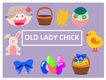 There was an Old Lady Who Swallowed a Chick Clip Art