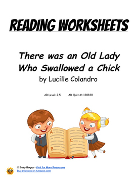 There was an Old Lady Who Swallowed a Chick  by Lucille Colandro Worksheets