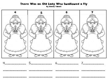 There was an Old Lady Who Swallowed a Fly Sequence of Events