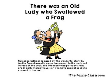 There was an Old Lady Who Swallowed a Frog Adapted Book