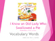 I Know an Old Lady Who Swallowed a Pie Vocabulary Words