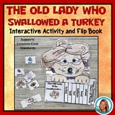 There was an Old Lady Who Swallowed a Turkey Sequencing Interactive Flip Book
