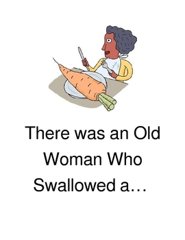 There was an Old Lady Who Swallowed... writing