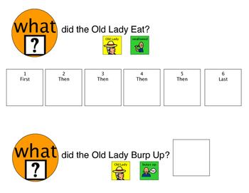 There was an Old Lady Who Swallowed a Chick: Speech and Language Book Companion