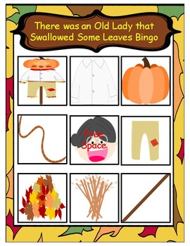 There was an Old Lady who Swallowed Some Leaves Bingo