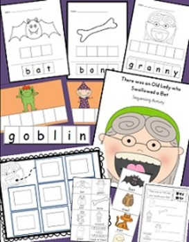 There was an Old Lady who Swallowed a Bat Bundle (7 Activities)