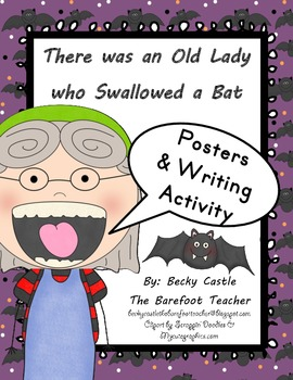 There was an Old Lady who Swallowed a Bat Posters & Writin