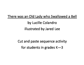 There was an Old Lady who Swallowed a Bell Sequence Activi