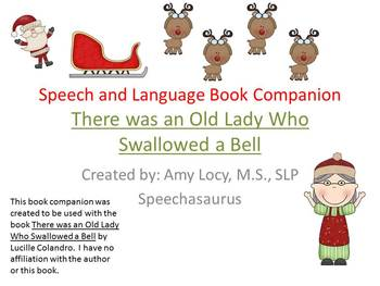 There was an Old Lady who Swallowed a Bell -  Speech and Language Book Companion