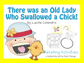 There was an Old Lady who Swallowed a Chick! {Retelling}