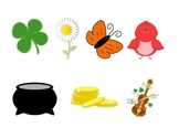 There was an Old Lady who Swallowed a Clover Clip Art FREE