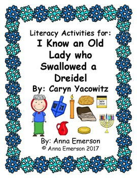 There was an Old Lady who Swallowed a Dreidel Literacy Activities