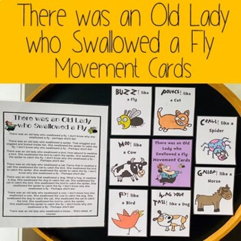 There was an Old Lady who Swallowed a Fly Movement Cards
