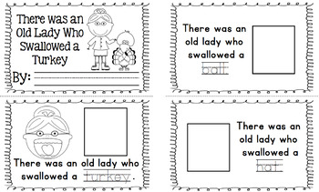 There was an Old Lady who Swallowed a Turkey - visuals and acitvity book