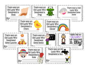 There was an Old Lady who Swallowed...  - bundle of reading activities
