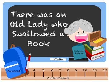 There was an Old Lady who Swallowed some Books! iPad Companion.